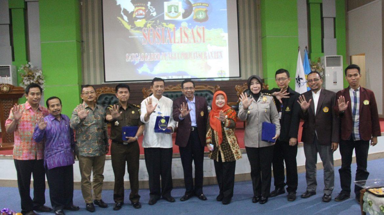 (Bahasa) UNTIRTA dan UPP Saber Pungli Banten Gelar Sosialisasi