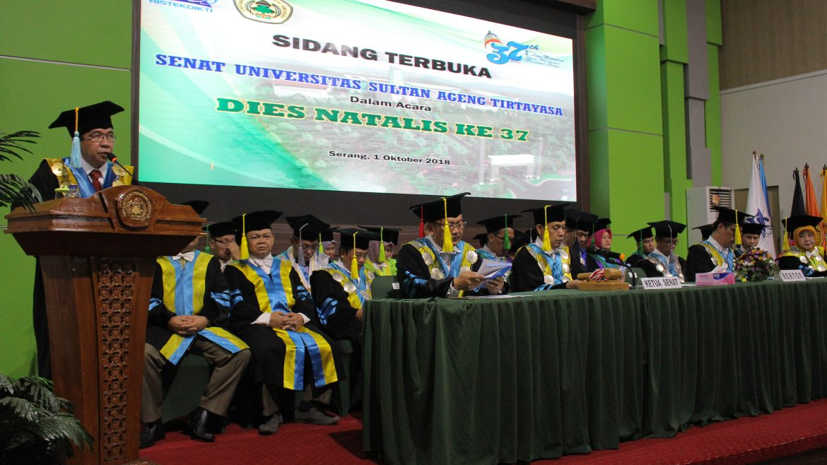 Senate Open Session of the 37th Dies Natalis of Untirta