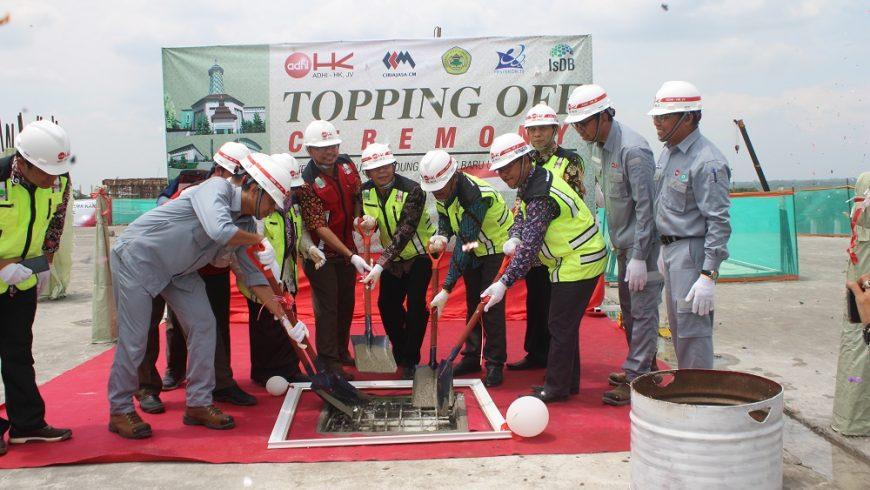 Topping Off Ceremony Proyek Pembangunan Gedung Kampus Baru Untirta Kabupaten Serang