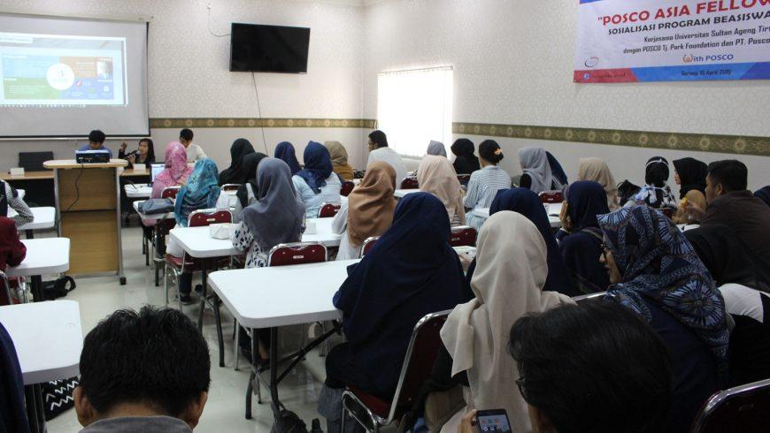 PLI Untirta Sosialisasikan Beasiswa Posco Asia Fellowship 2019