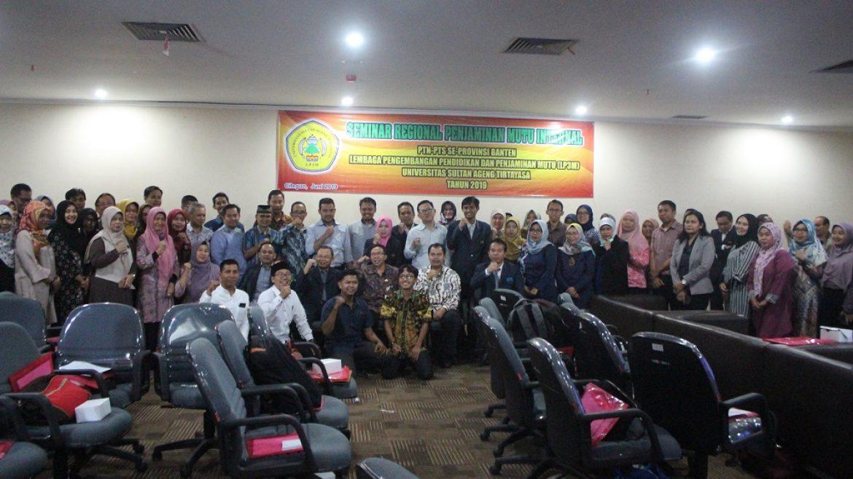 (Bahasa) LP3M Untirta Selenggarakan Seminar Regional Penjaminan Mutu Internal PTN dan PTS Se-Provinsi Banten