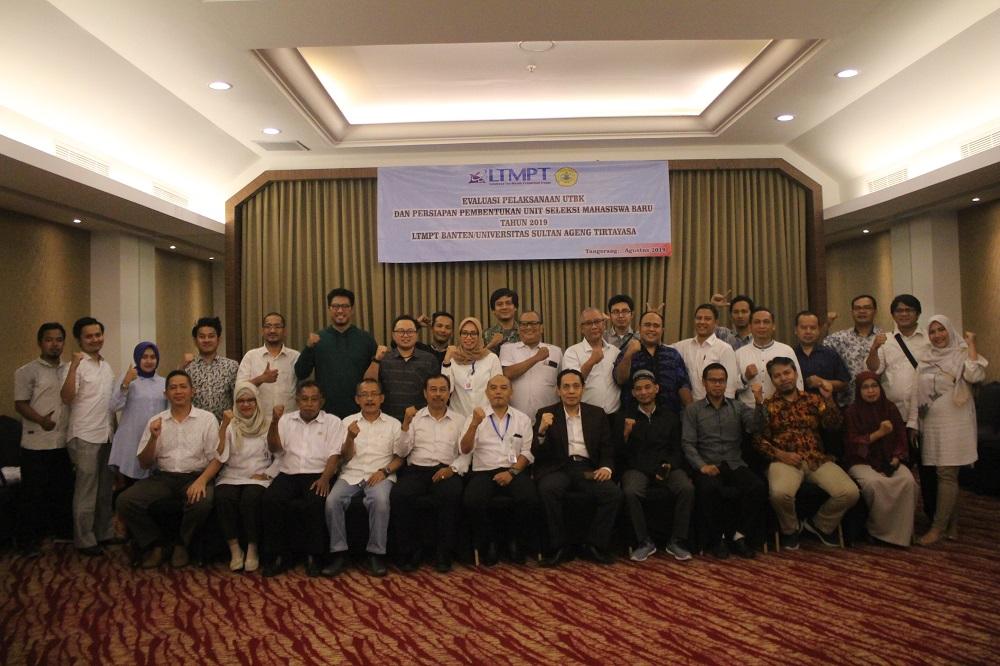 Evaluasi Pelaksanaan UTBK dan Persiapan Pembentukan Unit Seleksi Mahasiswa Baru 2019 LTPMT Banten Untirta