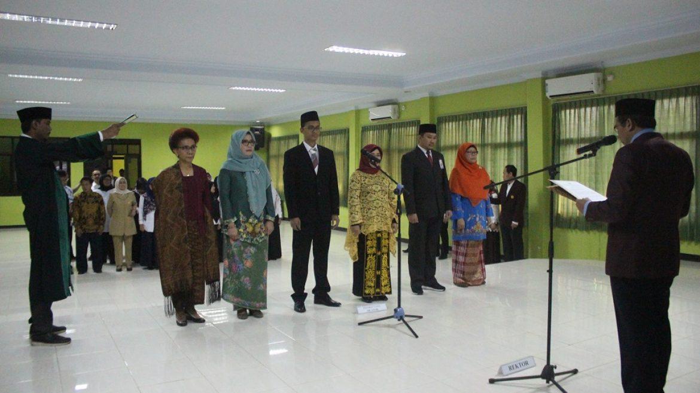 (Bahasa) Rektor Untirta Melantik Dekan, Wakil Dekan, Ketua Prodi Fakultas Kedokteran Untirta