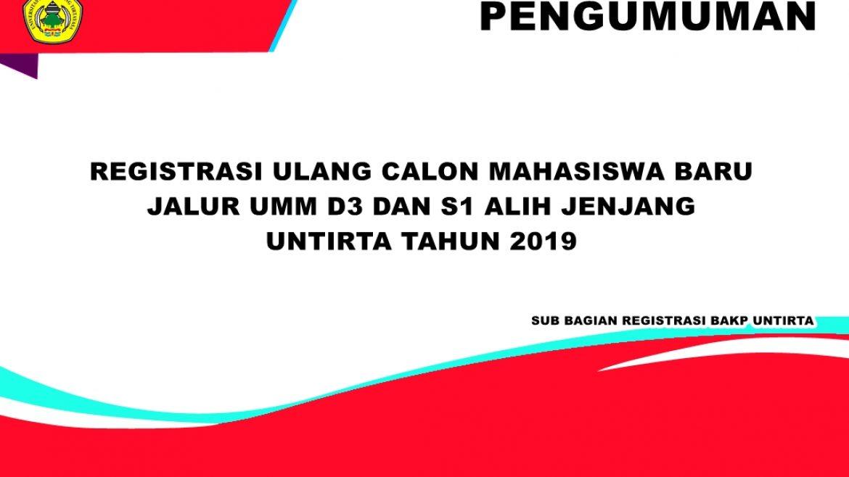 (Bahasa) PENGUMUMAN REGISTRASI CALON MAHASISWA BARU D3 DAN S1 ALIH JENJANG UNTIRTA TAHUN 2019