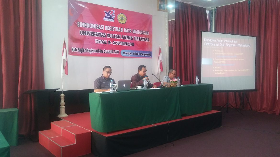 Synchronization of Student Data Registration Held by Subdivision of Registration of Untirta