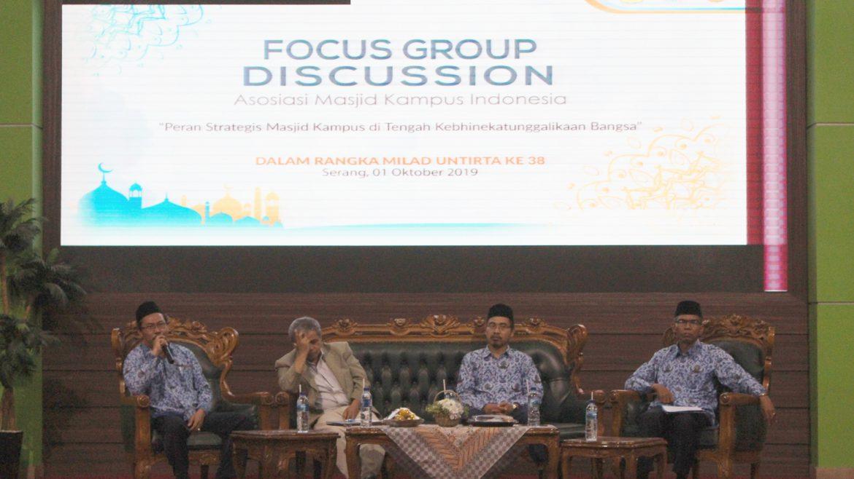 (Bahasa) Asosiasi Masjid Kampus Indonesia Selenggarakan FGD di Untirta