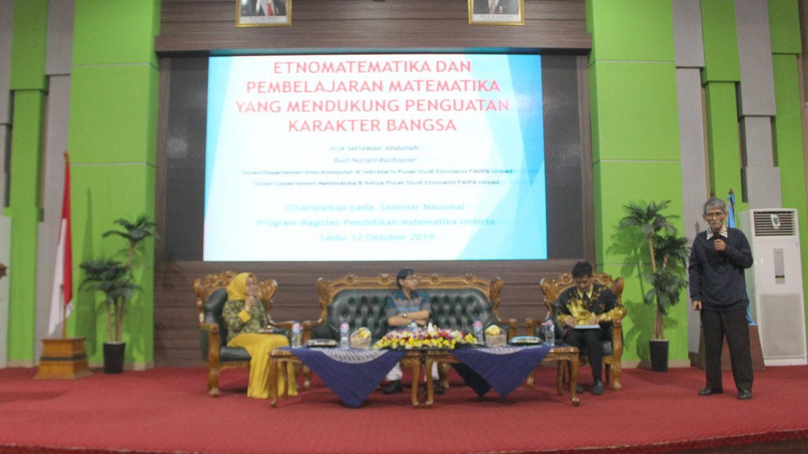 The Masters in Mathematics Education Held National Seminar on Mathematics Research and Education