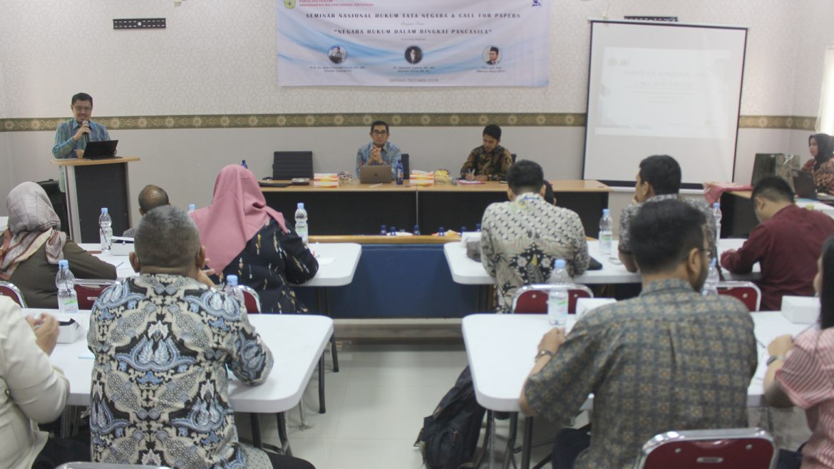 Constitutional Law of Faculty of Law of University of Sultan Ageng Tirtayasa Held Seminar Nasional