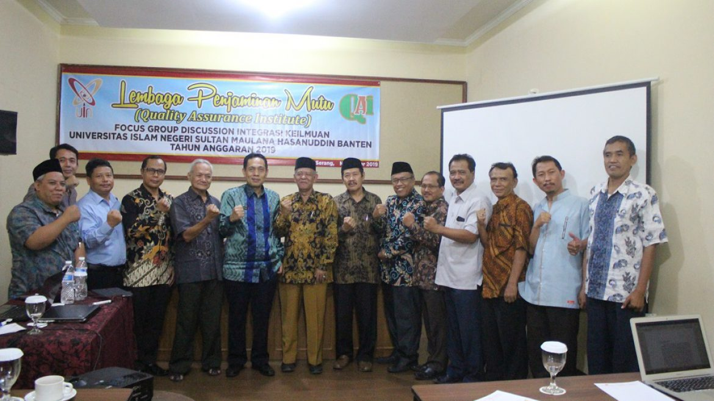 (Bahasa) Rektor Untirta Menghadiri FGD Integrasi Keilmuwan UIN Banten
