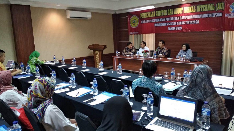 (Bahasa) LP3M Untirta Selenggarakan Pembekalan Auditor dan Audit Jurnal Internal (AJI)