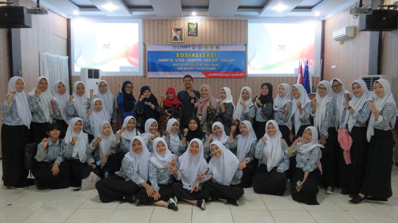 (Bahasa) Humas Untirta Sosialisasikan PMB 2020 kepada Siswa SMKN 1 Kota Serang