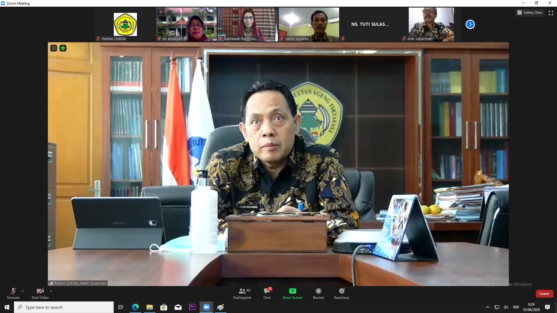 Sosialisasi Prodi S1 Keperawatan dan Profesi Ners Untirta Kepada Dinas Pendidikan, Dinas Kesehatan dan RSUD Se-Provinsi Banten