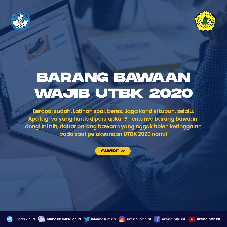 Barang Bawaan Wajib UTBK-SBMPTN 2020