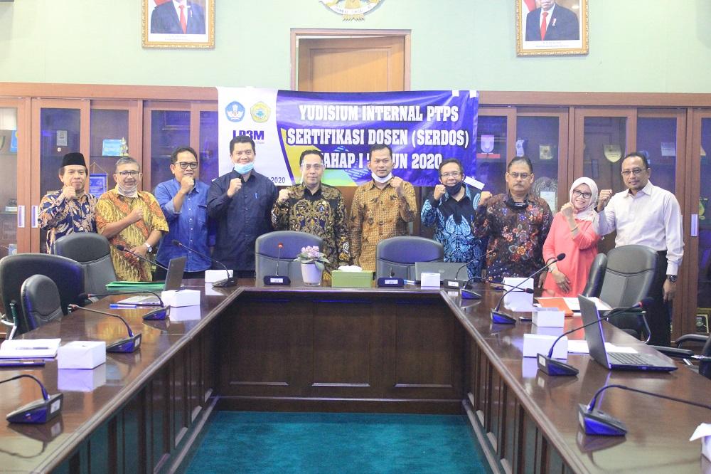 Universitas Sultan Ageng Tirtayasa melaksanakan Yudisium Internal PTPS Sertifikasi Dosen (Serdos)
