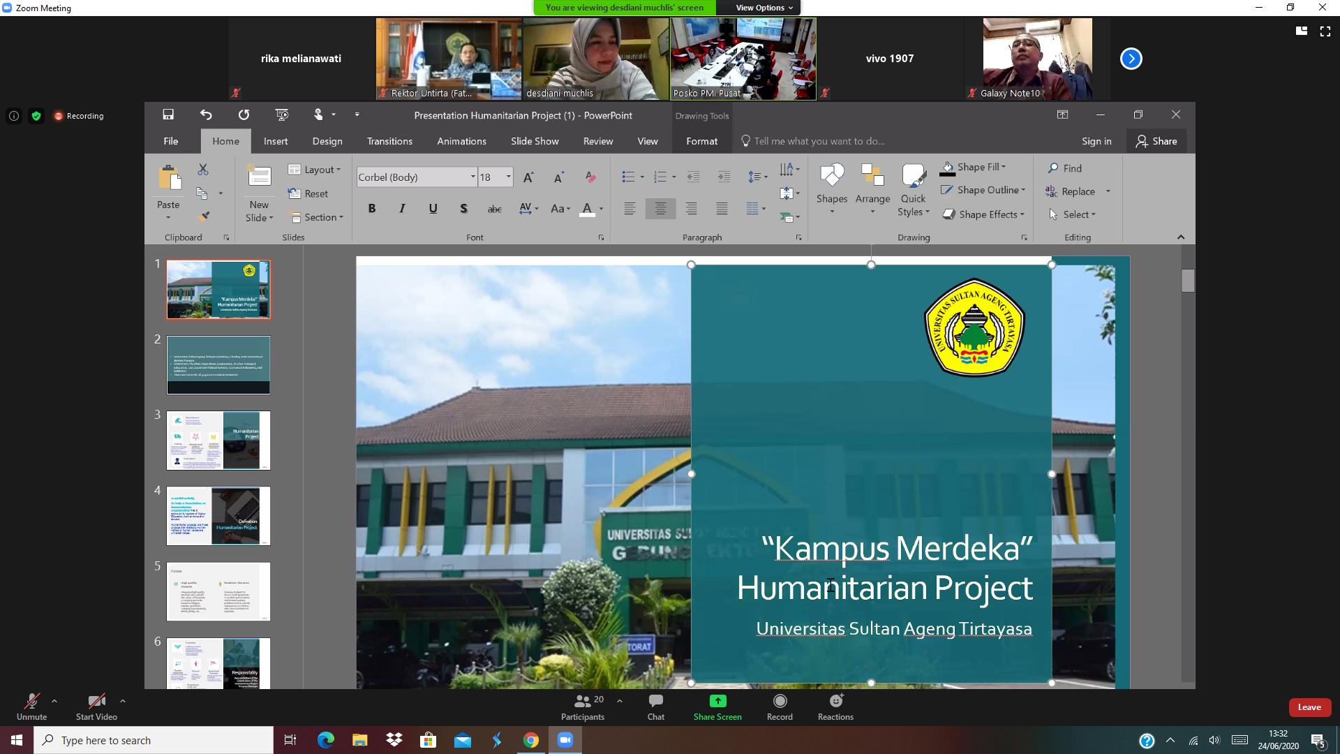 Dukung Program Kampus Merdeka, Untirta Lakukan Audiensi Proyek Kemanusiaan Bersama UNICEF Indonesia, WHO Indonesia, dan PMI Pusat