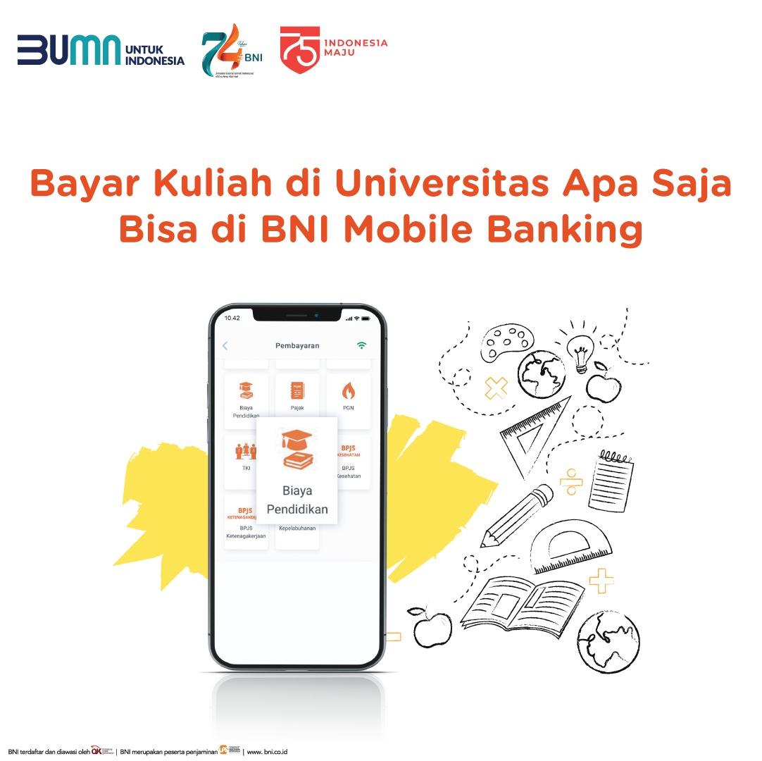 BAYAR KULIAH UNTIRTA, GUNAKAN BNI MOBILE BANKING