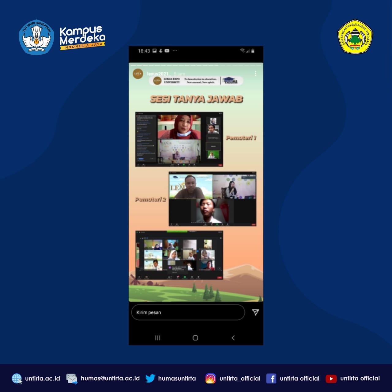 Tim Sospro SNMPTN, UTBK SBMPTN Banten/UNTIRTA Sosialisasikan PMB di LEXUS 2021