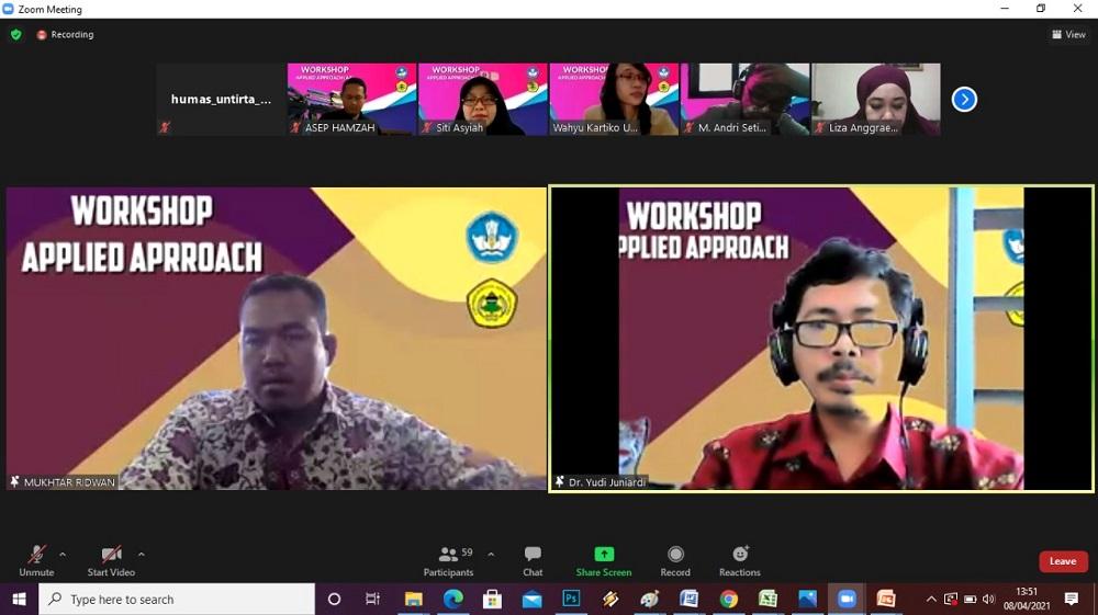 Hari Ke 4 Workshop Applied Approach Kerjasama LP3M Untirta – STKIP Setia Budhi