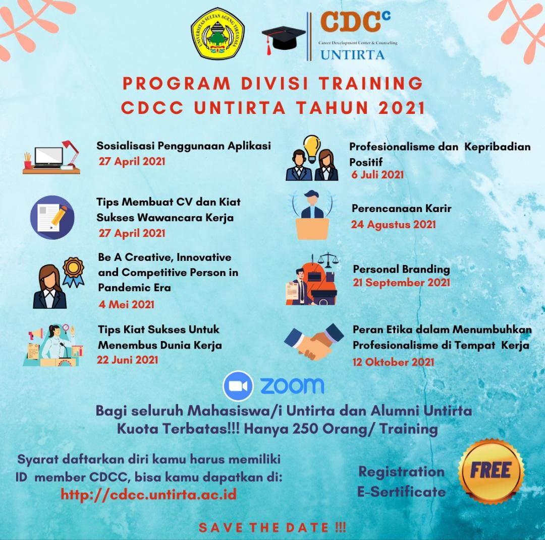Ayo Gabung. Program Divisi Training CDCC Untirta Tahun 2021
