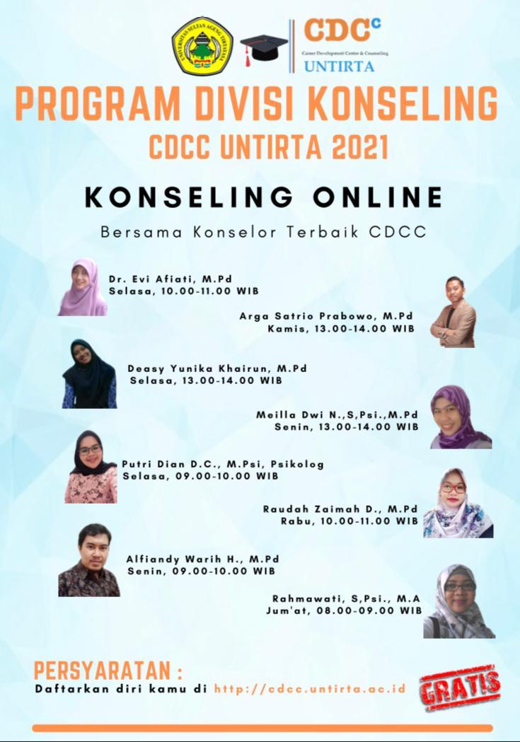 Konseling Online Bersama Konselor Terbaik CDCC Untirta