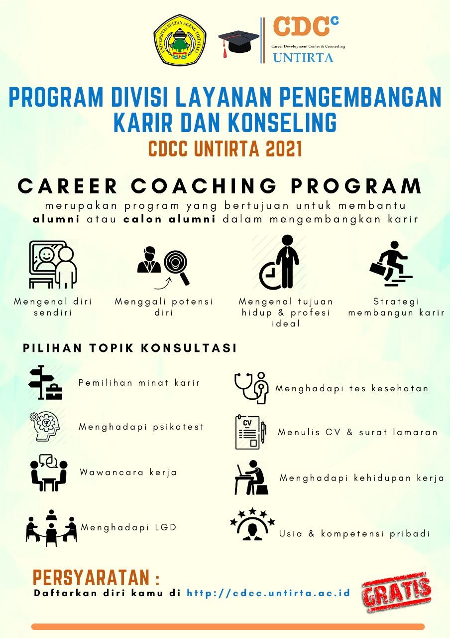 Program Divisi Layanan Pengembangan Karir dan Konseling CDCC Untirta Tahun 2021