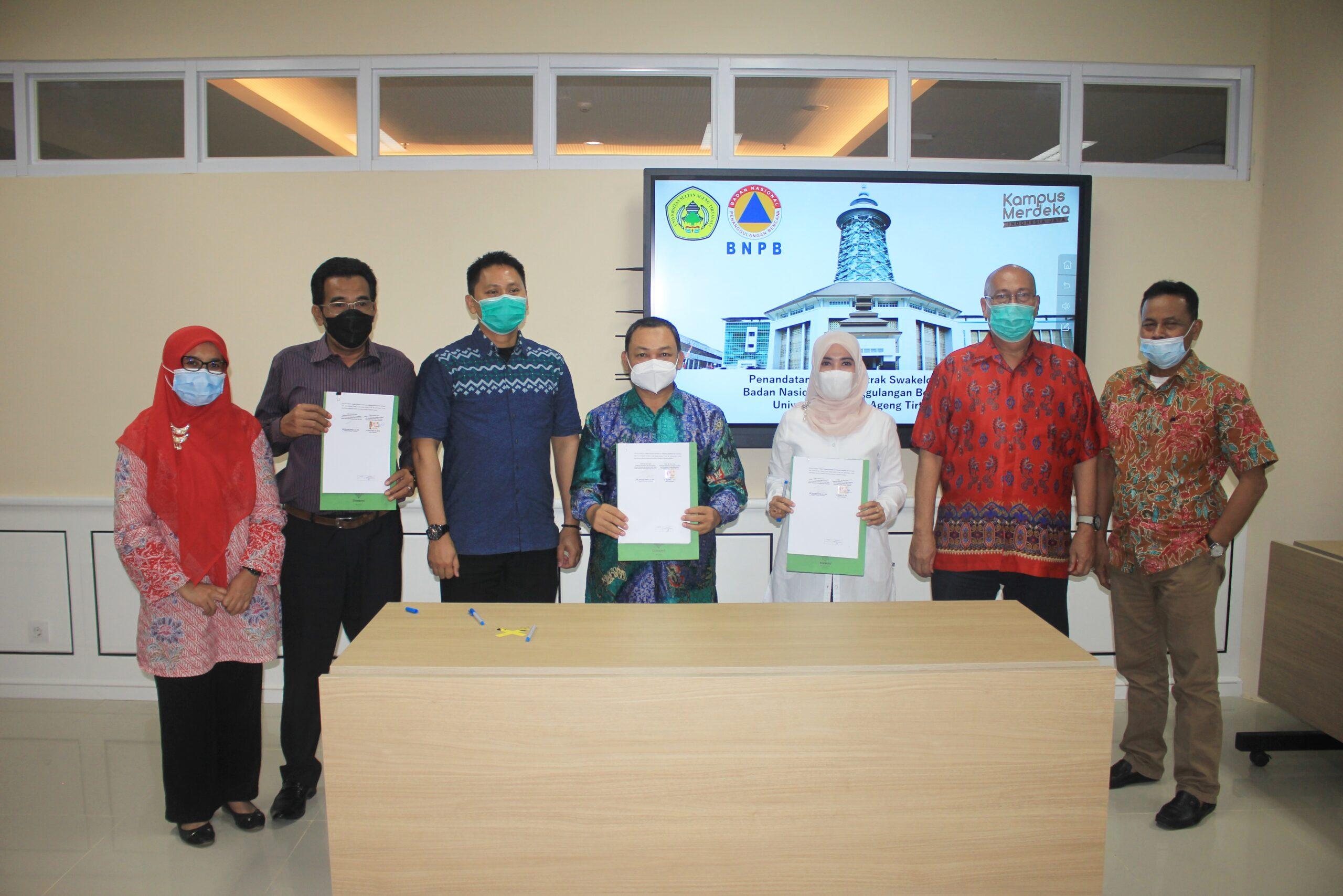 Untirta dan BNPB Tandatangani Kontrak Program