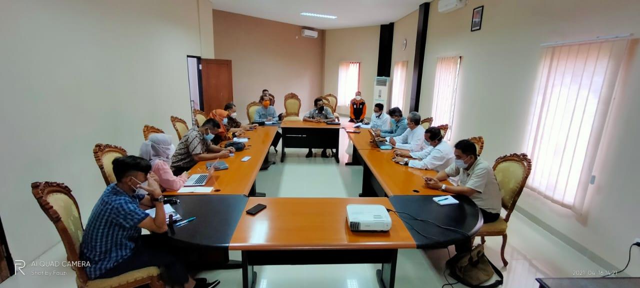 Untirta dan BPBD Banten Berkoordinasi Sukseskan Program Pembinaan dan Pendampingan Pasca Bencana di Provinsi Banten Tahun 2021.
