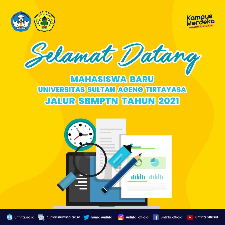 Registrasi Ulang Jalur SBMPTN UNTIRTA TAHUN 2021