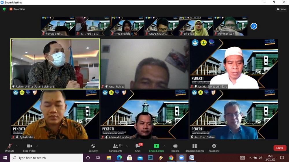 APPERTI Banten dan LP3M Untirta Gelar PEKERTI di Masa PPKM Darurat Secara On Line