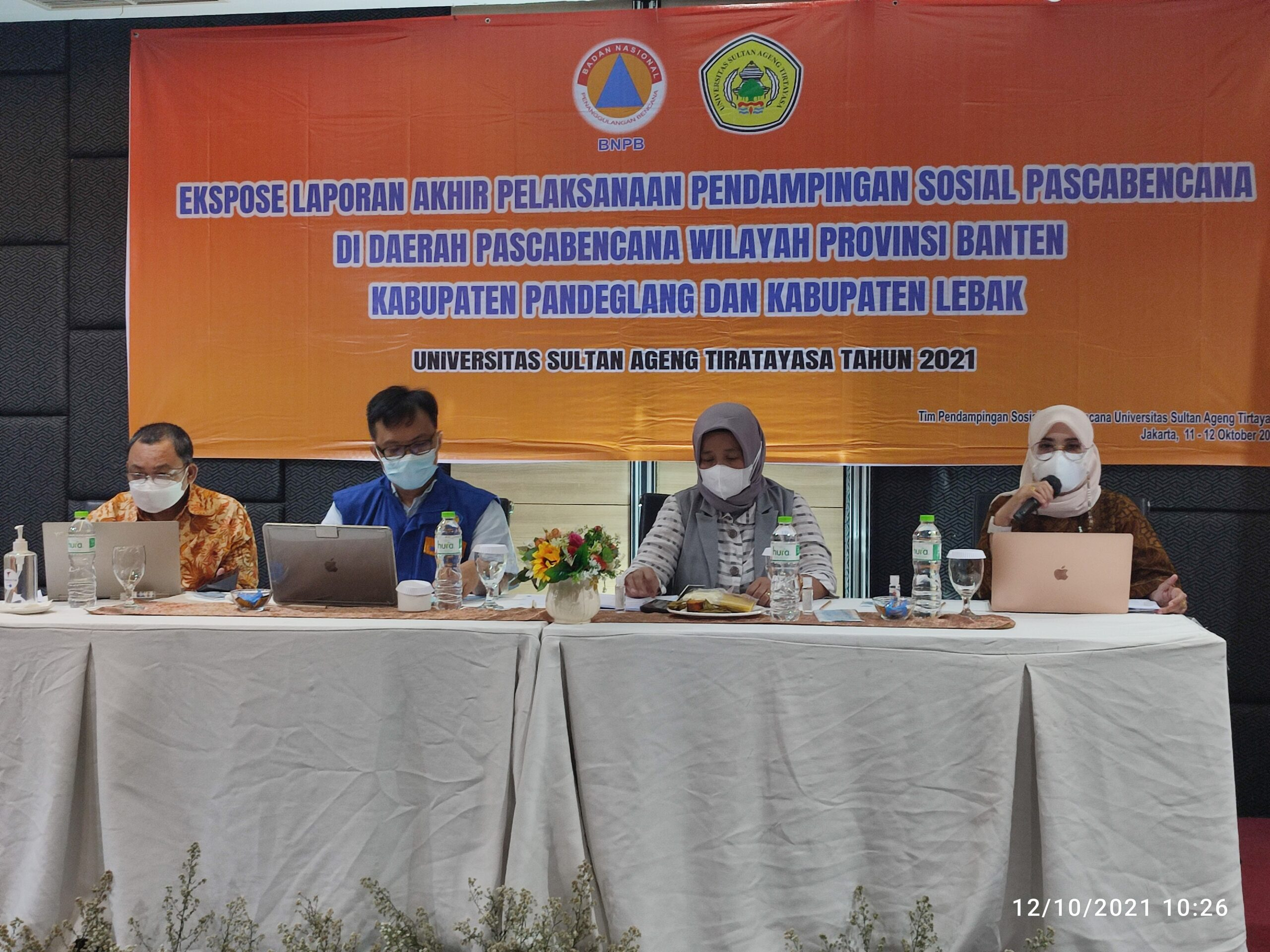 Tim PS, PPE Untirta dan PS Unila Bersama BNPB Gelar Ekspose Laporan Akhir