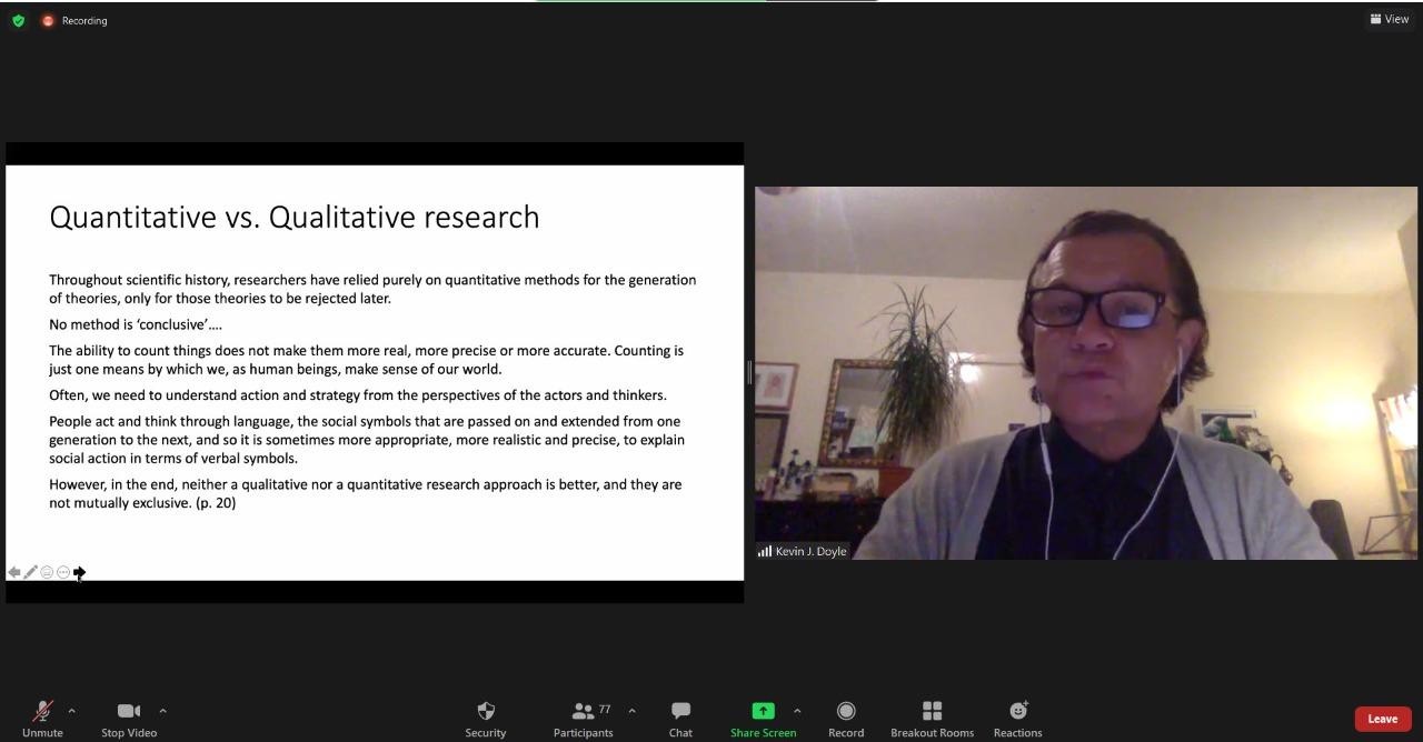 Pelita Untirta Hadirkan Dr. Kevin J. Doyle pada Online Short Course Series: The Case for Qualitative Research